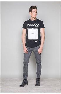 T-Shirt T-SHIRT HERE Homme W19162 (49100) - DEELUXE