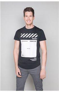 T-Shirt T-SHIRT HERE Homme W19162 (49101) - DEELUXE