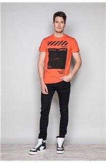 T-Shirt T-SHIRT HERE Homme W19162 (49105) - DEELUXE