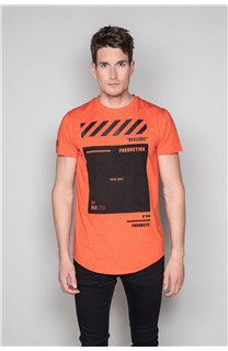 T-Shirt T-SHIRT HERE Homme W19162 (49106) - DEELUXE