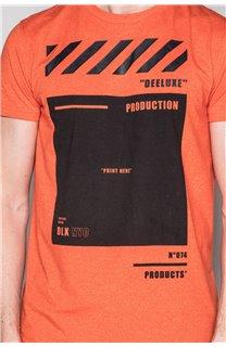 T-Shirt T-SHIRT HERE Homme W19162 (49108) - DEELUXE