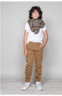 Pantalon PANTALON GARDEN Garçon W197017B (49321) - DEELUXE