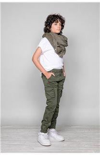 Pantalon PANTALON GARDEN Garçon W197017B (49327) - DEELUXE