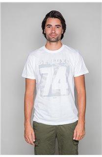 T-Shirt T-SHIRT SHORES Homme W19118 (49800) - DEELUXE