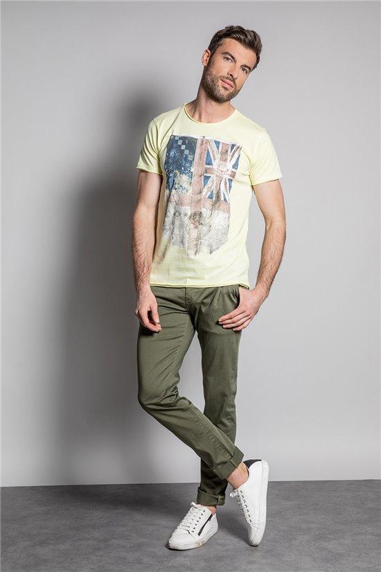 T-Shirt T-SHIRT FLAGY Homme S20116 (50656) - DEELUXE