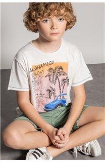 T-Shirt T-Shirt ALDO Garçon S20144B (51061) - DEELUXE