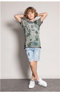 T-Shirt T-Shirt JOSHUA Garçon S20108B (51163) - DEELUXE