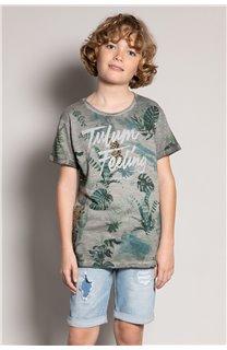 T-Shirt T-Shirt JOSHUA Garçon S20108B (51164) - DEELUXE