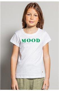T-Shirt MOOD Fille S20136G (51670) - DEELUXE