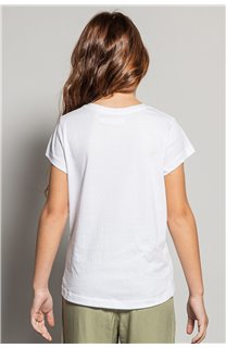 T-Shirt MOOD Fille S20136G (51671) - DEELUXE