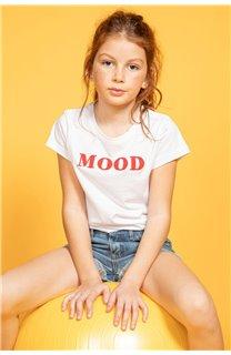 T-Shirt MOOD Fille S20136G (51673) - DEELUXE