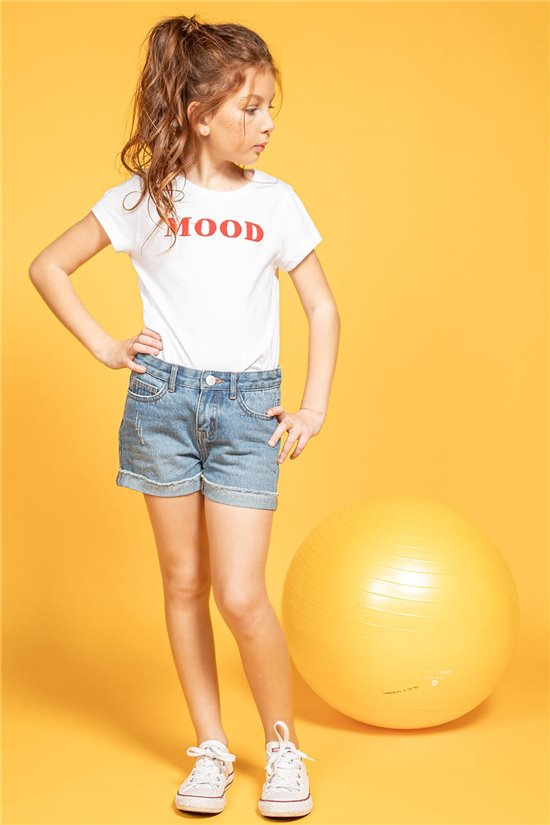 T-Shirt T-Shirt MOOD Fille S20136G (51668) - DEELUXE