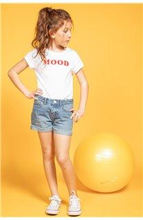 T-Shirt MOOD Fille S20136G (51674) - DEELUXE