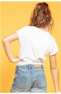 T-Shirt MOOD Fille S20136G (51676) - DEELUXE