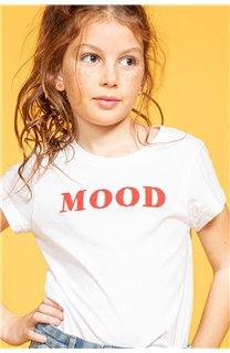 T-Shirt MOOD Fille S20136G (51677) - DEELUXE