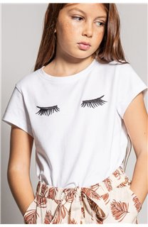 T-Shirt CILIA Fille S20122G (51682) - DEELUXE