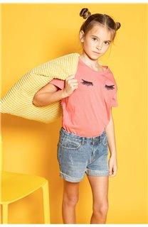 T-Shirt CILIA Fille S20122G (51683) - DEELUXE