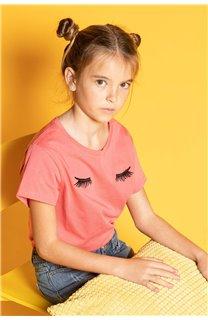 T-Shirt CILIA Fille S20122G (51685) - DEELUXE