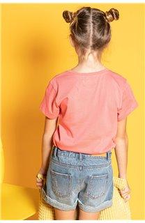 T-Shirt CILIA Fille S20122G (51686) - DEELUXE