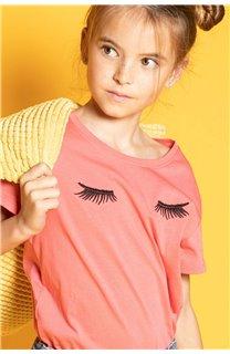 T-Shirt CILIA Fille S20122G (51687) - DEELUXE