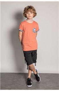 T-Shirt T-Shirt SHAMAR Garçon S20195B (51739) - DEELUXE