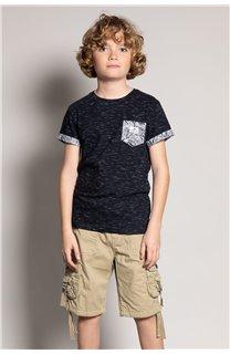 T-Shirt T-Shirt SHAMAR Garçon S20195B (51750) - DEELUXE