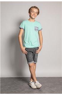 T-Shirt T-Shirt SHAMAR Garçon S20195B (51754) - DEELUXE