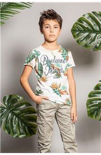 T-Shirt T-Shirt FRESH Garçon S20156B (51794) - DEELUXE