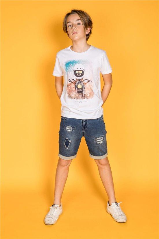 T-Shirt T-Shirt POKE Garçon S20160B (51818) - DEELUXE