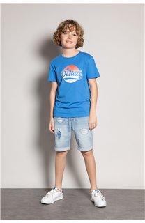T-Shirt T-Shirt TRIBU Garçon S20193B (51884) - DEELUXE