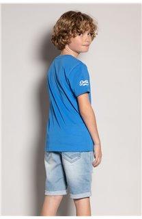 T-Shirt T-Shirt TRIBU Garçon S20193B (51886) - DEELUXE