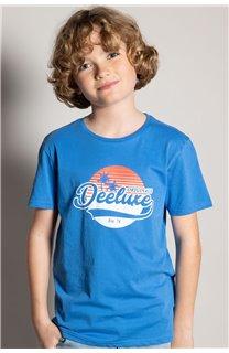 T-Shirt T-Shirt TRIBU Garçon S20193B (51887) - DEELUXE