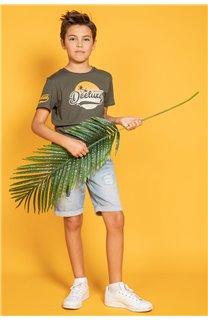 T-Shirt T-Shirt TRIBU Garçon S20193B (51889) - DEELUXE