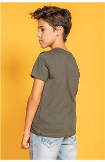 T-Shirt T-Shirt TRIBU Garçon S20193B (51891) - DEELUXE