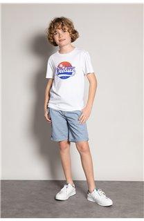 T-Shirt T-Shirt TRIBU Garçon S20193B (51894) - DEELUXE