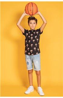 T-Shirt T-Shirt HEMA Garçon S20119B (51965) - DEELUXE
