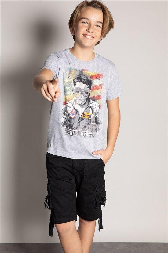 T-Shirt T-Shirt MAVERICKER Garçon S20198B (52064) - DEELUXE