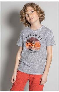 T-Shirt T-Shirt BAKA Garçon S20122B (52182) - DEELUXE