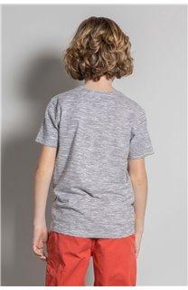 T-Shirt T-Shirt BAKA Garçon S20122B (52183) - DEELUXE