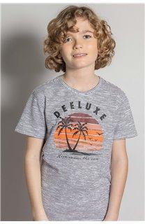 T-Shirt T-Shirt BAKA Garçon S20122B (52184) - DEELUXE