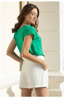 T-Shirt LILI Femme S20129W (52288) - DEELUXE