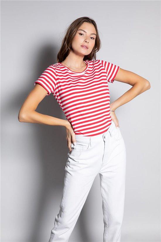 T-Shirt T-Shirt TRUSTRIPES Femme S20115W (52664) - DEELUXE