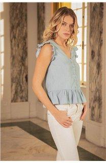 Blouse NELLY Femme S20406W (52705) - DEELUXE