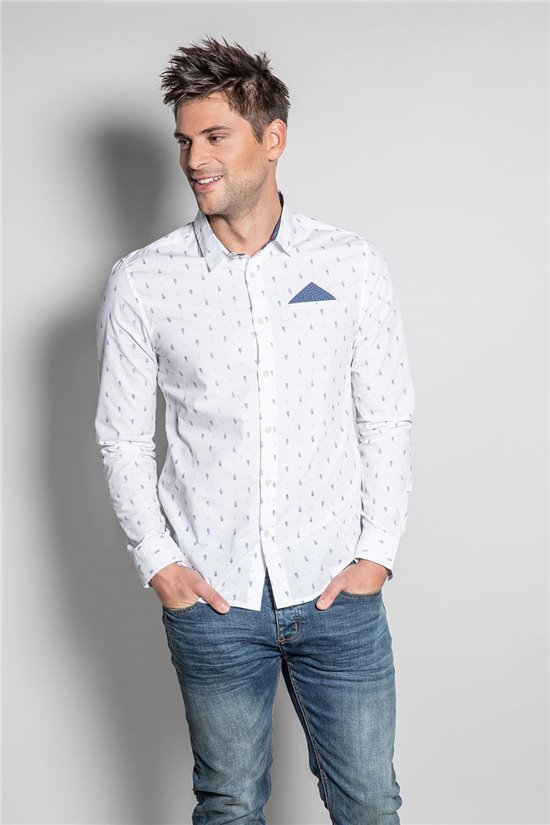 Chemise CHEMISE PAISLEY Homme S20422 (52833) - DEELUXE