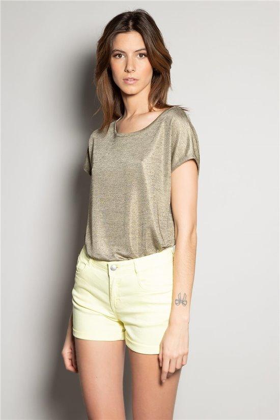 T-Shirt T-Shirt PLUMY Femme S20102W (52943) - DEELUXE