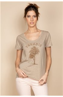 T-Shirt PARADISE Femme S20130W (53080) - DEELUXE