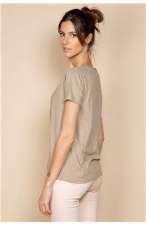 T-Shirt PARADISE Femme S20130W (53081) - DEELUXE