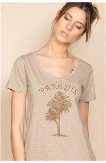 T-Shirt PARADISE Femme S20130W (53082) - DEELUXE