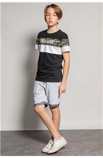 T-Shirt T-Shirt WICKSON Garçon S20185B (53656) - DEELUXE