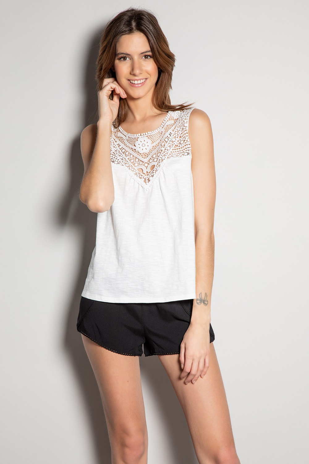 T-Shirt MINA - Couleur - Off White, Taille - XS